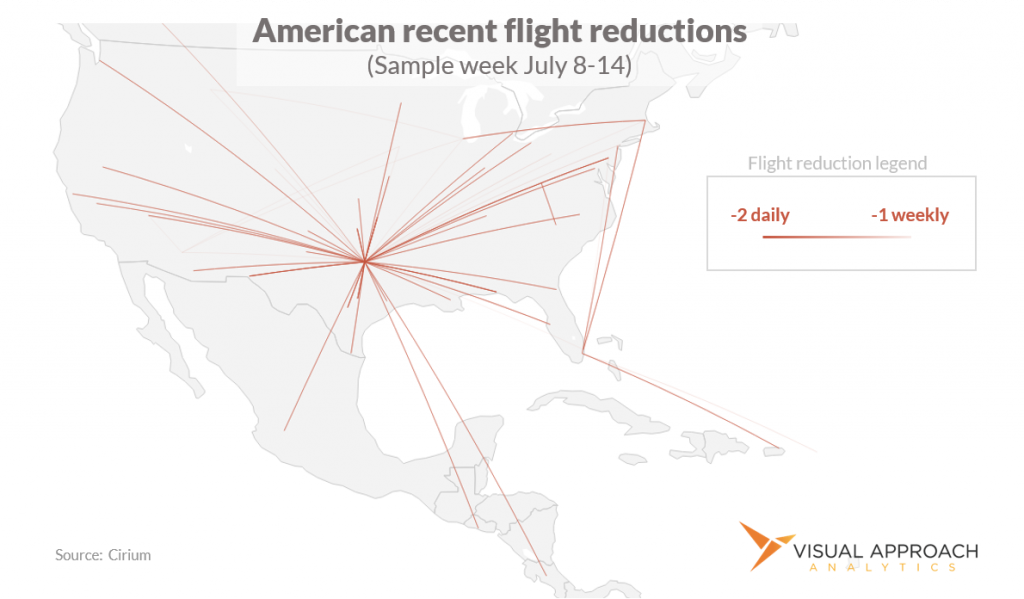 American Airlines cancels some july flying due to pilot availability